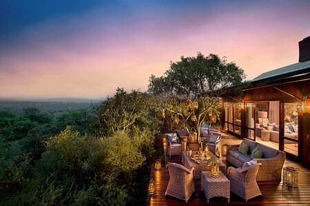 Ecca Lodge main lodge exterior at Kwandwe South Africa