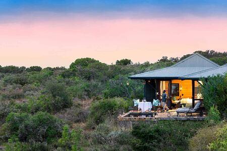 Ecca Lodge suite panorama at Kwandwe South Africa