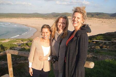 Friends enjoying time at Monte Velho, Portugal