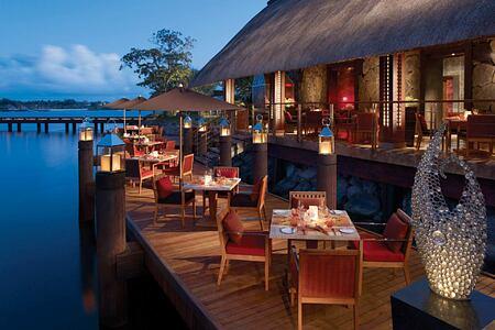 Evening dining at Anahita Mauritius