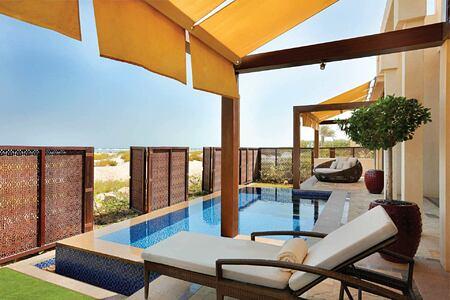 Executive villa terrace at the Park Hyatt Abu Dhabi