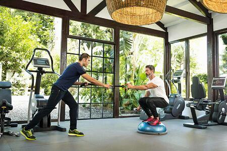 Exercises at Marbella Beach Club Spain