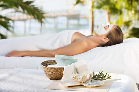 Facial treatment at Marbella Beach Club Spain