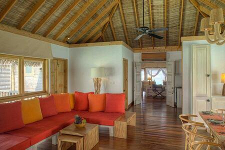 Family Villa Living Room at Gili Lankanfushi Maldives