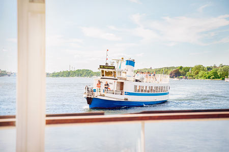 Ferry on the bay at Hotel J Sweden