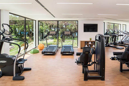 Fitness room at Pine Cliffs, Portugal