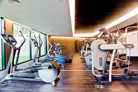 Fitness room at SHA Wellness Spain