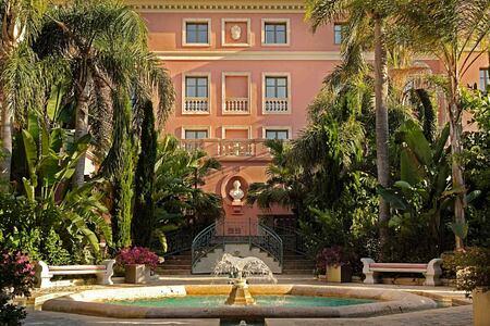 Garden Fountain at Villa Padierna Spain