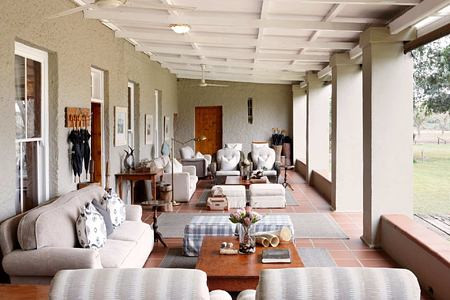 Heatherton Towers reception lounge at Kwandwe South Africa