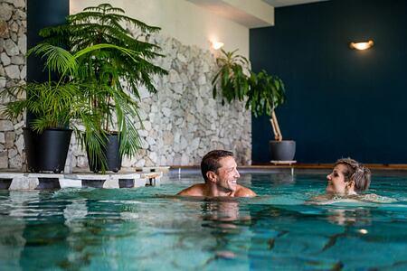 Indoor pool at Hotel La Majun Italy