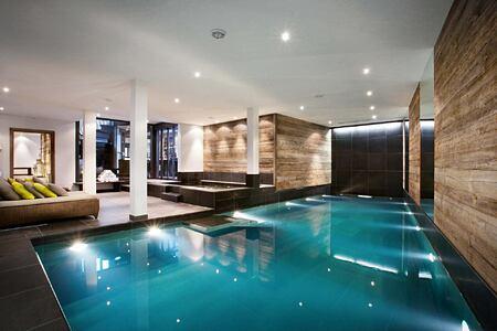 Indoor pool at The Lodge Switzerland