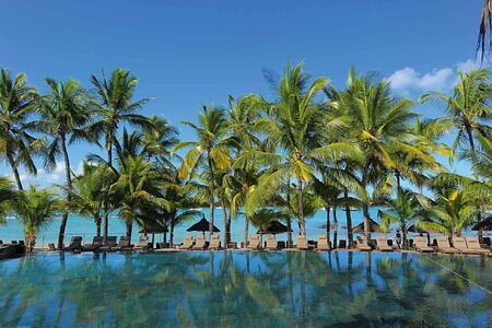 Infinity pool at Le Mauricia Mauritius