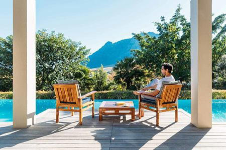 Lodge Pool Deck at Delaire Graff South Africa