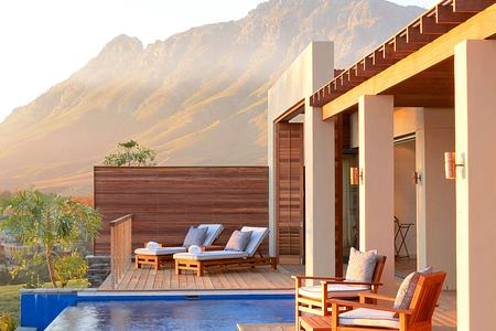 Lodge's private pool and deck at Delaire Graff South Africa