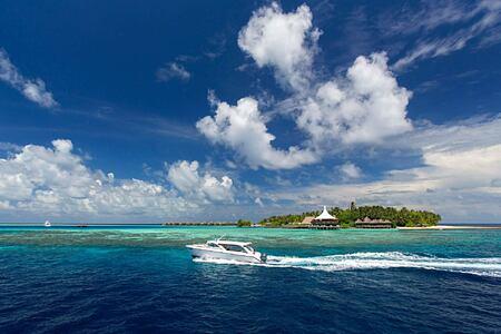 Long Aerial View at Baros Maldives