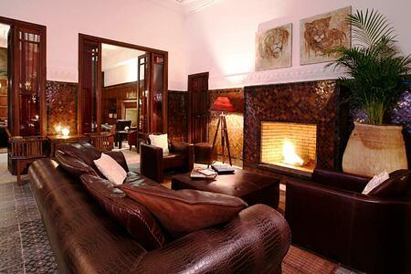 Lounge by the garden at Villa des Oranges Morocco