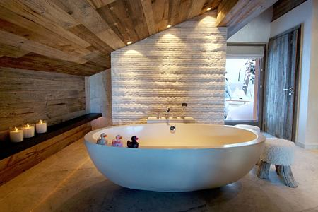 Master suite one bathroom at The Lodge Switzerland