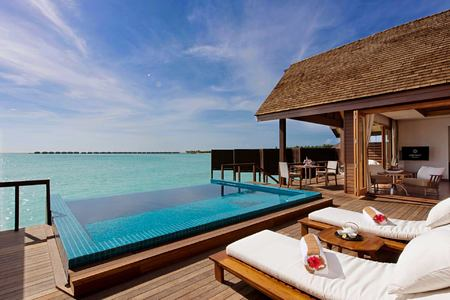 Ocean Villa Pool deck at Hideaway Beach Resort Maldives