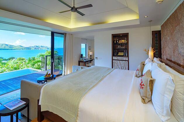 Oceanview Bedroom at Raffles Praslin Seychelles