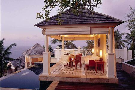 Outdoor Pool Pavilion at Banyan Tree Seychelles