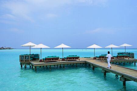 Over Water Bar Outer Deck at Gili Lankanfushi Maldives
