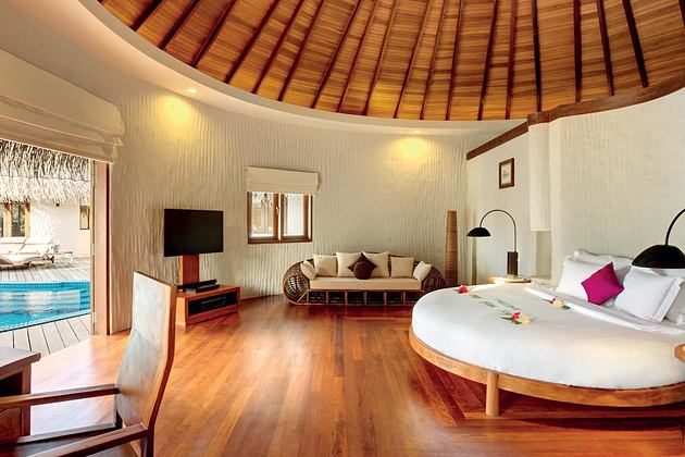 Palace bedroom at Hideaway Beach Resort Maldives