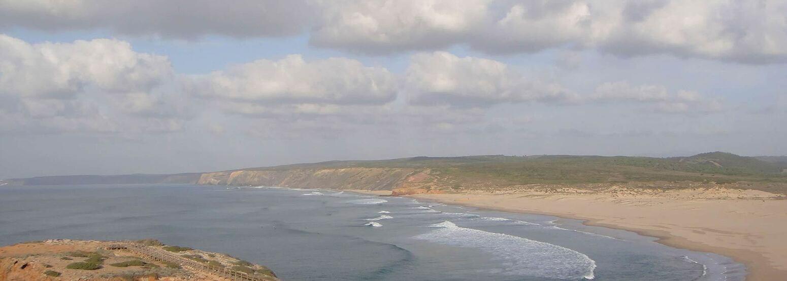 Panorama across bay at Monte Velho, Portugal