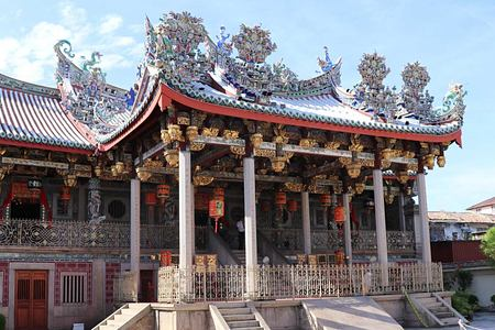 Ornate Khoo Kongsi temple in Penang Malaysia