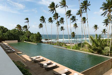 Pool and view at Amanwella Sri Lanka