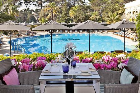 Pool view at Palacio Estoril, Portugal