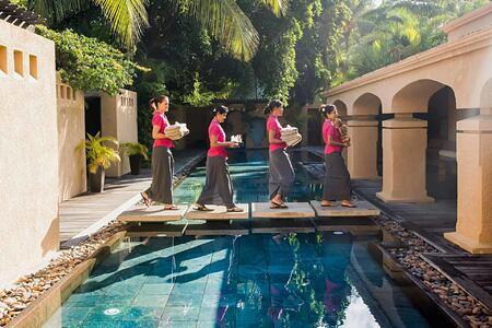 Preparing for spa at Le Mauricia Mauritius