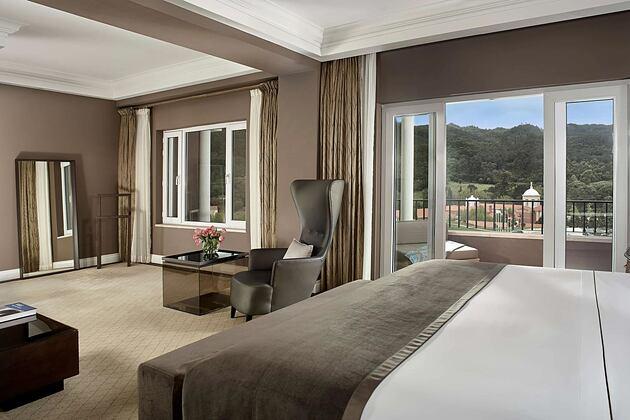 Presidential Suite bedroom at Penha Longa, Portugal