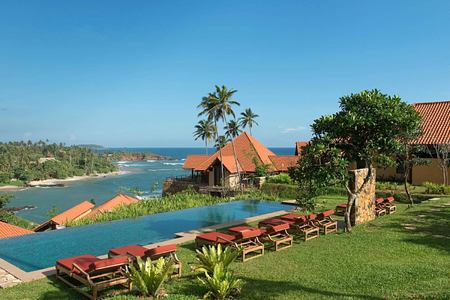 Private pool in a residence garden at Cape Weligama Sri Lanka