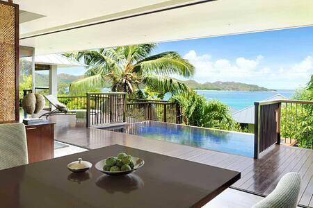 Raffles Ocean View Villa at Raffles Praslin Seychelles