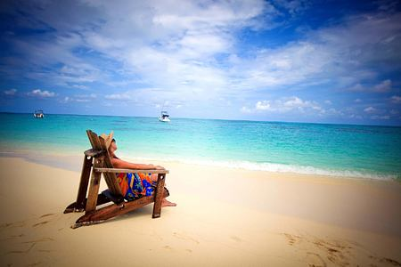 Relaxing on the Beach at Denis Private Island Seychelles