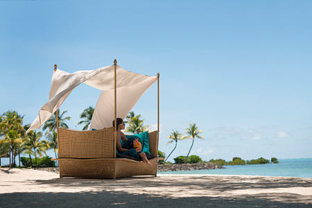 Relaxing on the beach at Anahita Mauritius