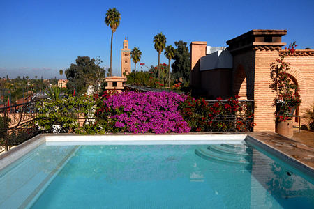 Rooftop pool at Villa des Oranges Morocco