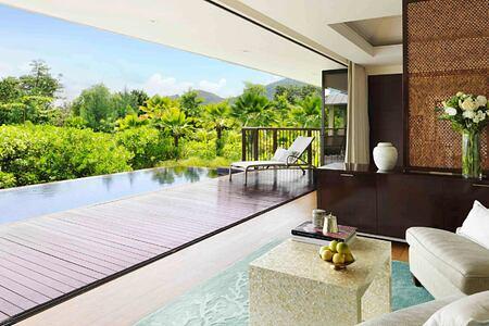 Royal Beach Front Villa at Raffles Praslin Seychelles