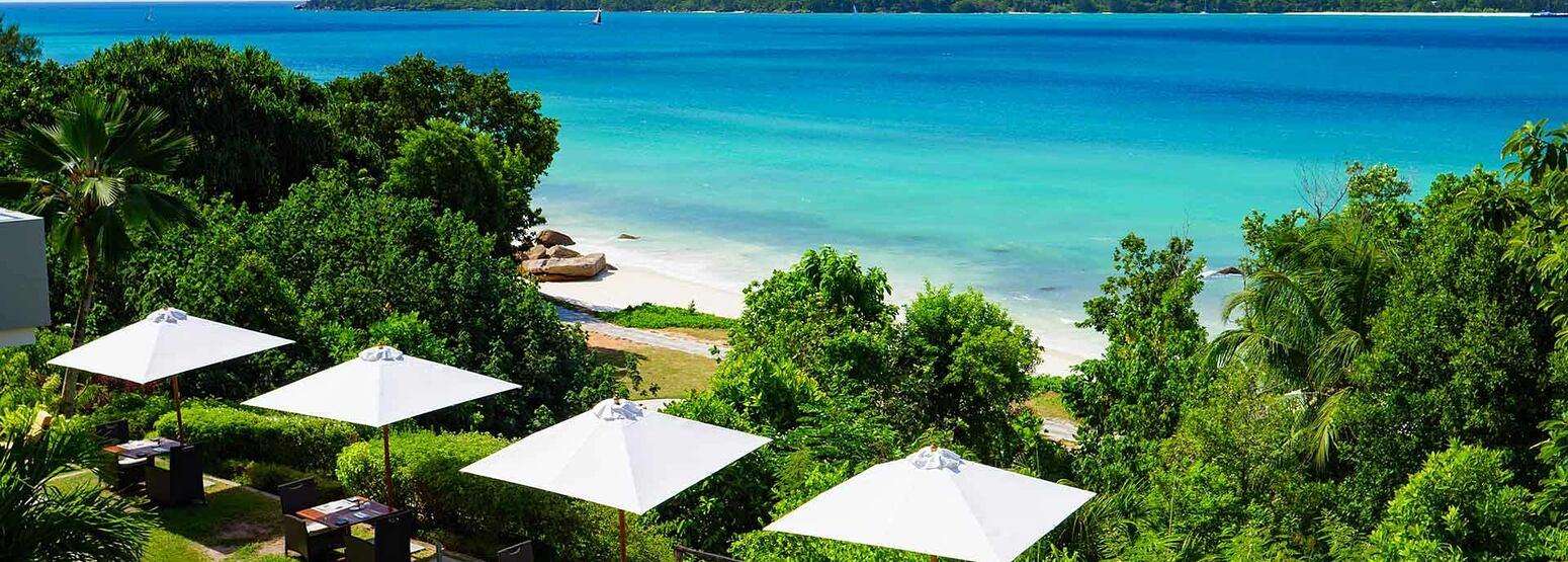 Sea view at Raffles Praslin Seychelles