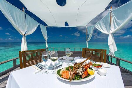 Seafood dining at Baros Maldives