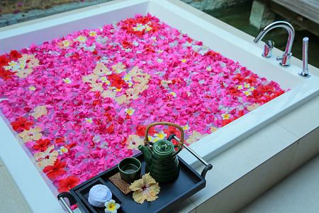Spa Flower Bath at Hideaway Beach Resort Maldives