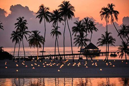 Sunset at Gili Lankanfushi Maldives