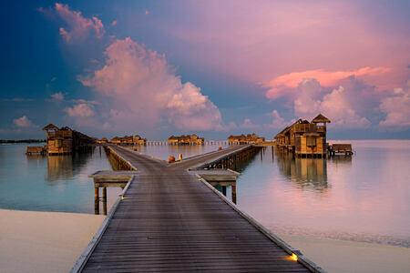 Sunset from Jetty One at Gili Lankanfushi Maldives