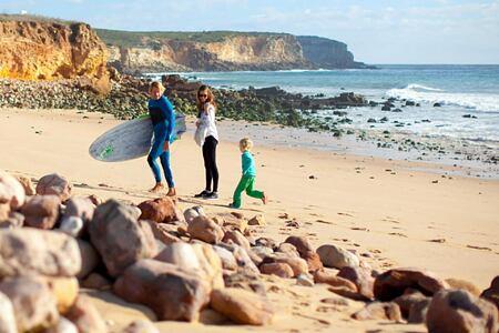 Surfing at Martinhal Resort, Portugal