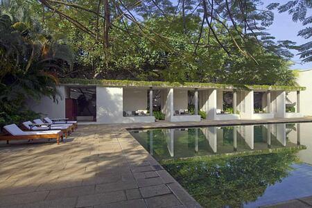 Swimming pool at Amangalla Sri Lanka