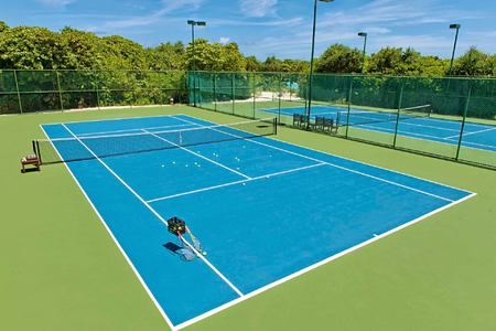Tennis Courts at Hideaway Beach Resort Maldives