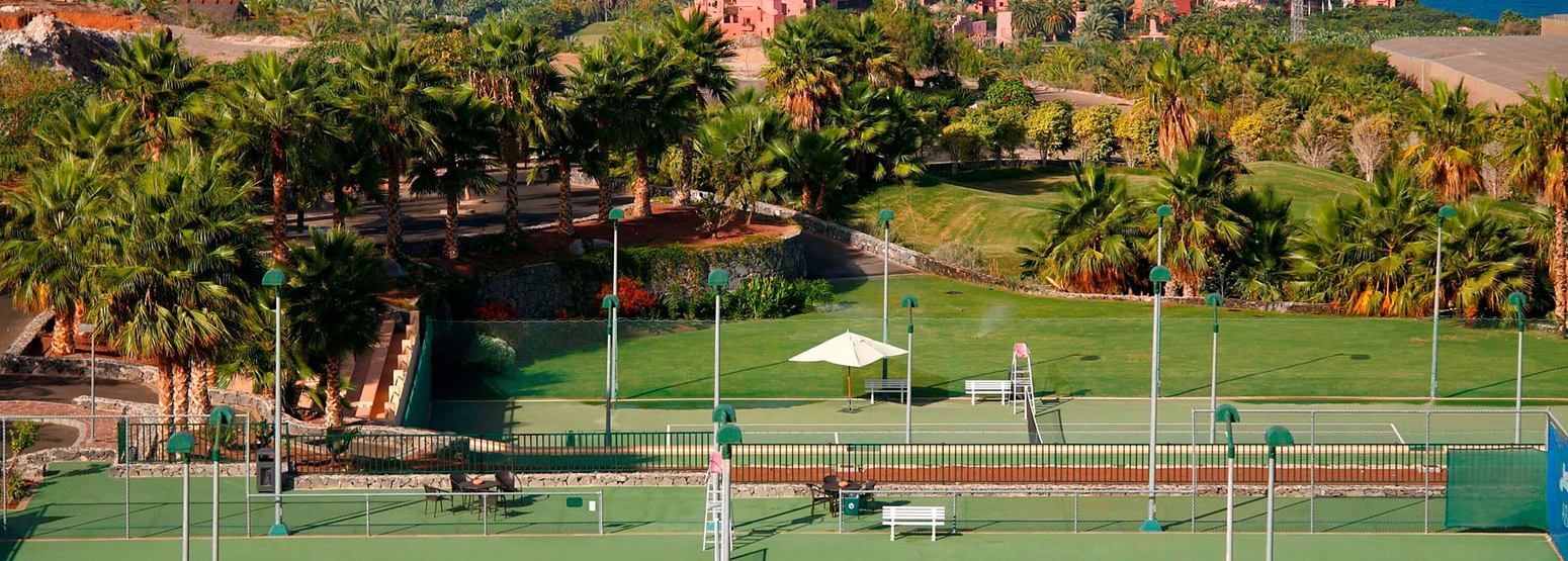 Tennis courts at Abama Golf and Spa Resort Tenerife