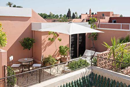 Terrace at Villa des Oranges Morocco
