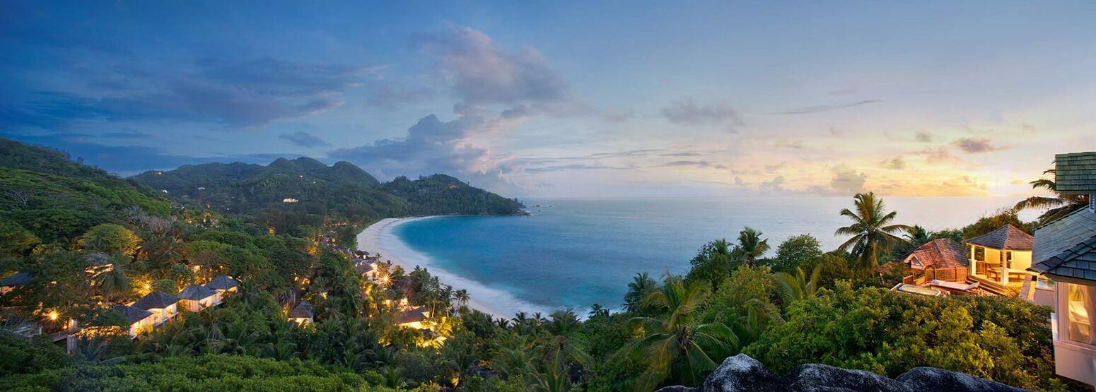 Twilight Panorama at Banyan Tree Seychelles