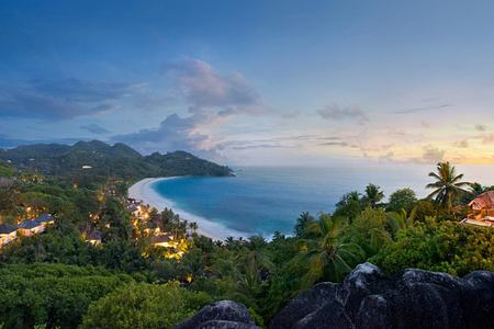 Twilight Panorama at Banyan Tree Seychelles
